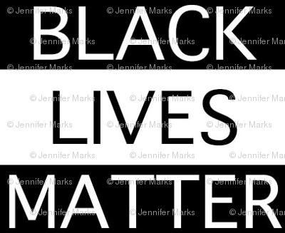 Black Lives Matter Tiled