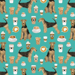 airedale terrier dog fabric cute dogs coffee dogs fabric coffee fabric