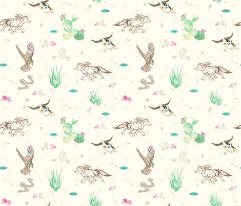 Mystic friends of the desert fabric by appaloosa_designs on Spoonflower - custom fabric