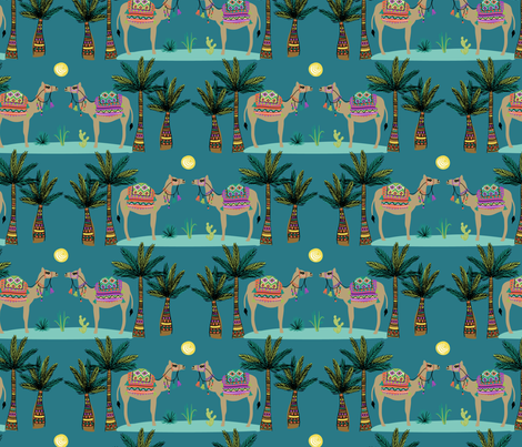 desert camels  fabric by laura_may_designs on Spoonflower - custom fabric