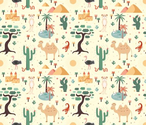 africa fabric by la_fabriken on Spoonflower - custom fabric