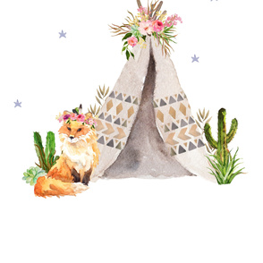 Wild One Fox / Floral