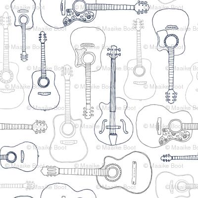 Rock music instrument guitar pattern