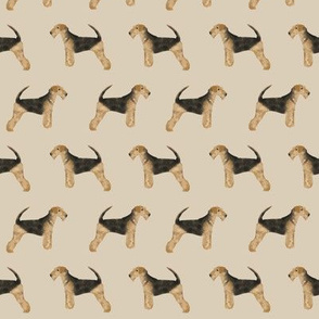 airedale terrier dog fabric cute dogs neutral sewing dog fabric