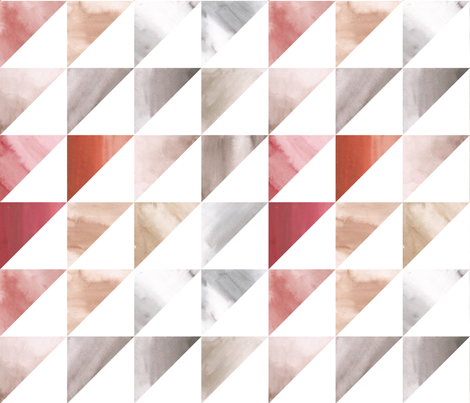 Desert Triangles in Watercolor fabric by colonnette on Spoonflower - custom fabric