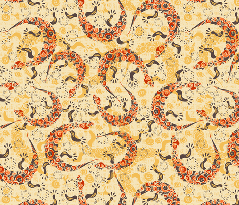 Sand Dancers fabric by paula's_designs on Spoonflower - custom fabric