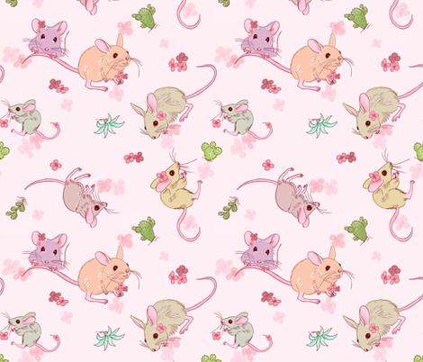 Desert mices fabric by designed_by_debby on Spoonflower - custom fabric