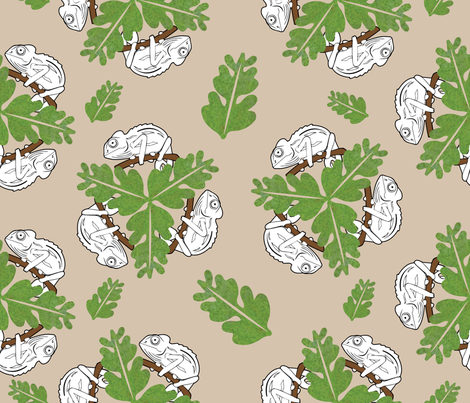Color your own Chameleon fabric by kfrogb on Spoonflower - custom fabric
