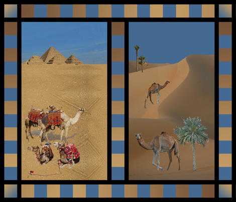 Tamed & Free-Range Camels fabric by zsmama on Spoonflower - custom fabric