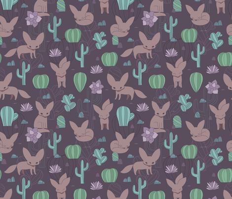Fennec fox fabric by kostolom3000 on Spoonflower - custom fabric