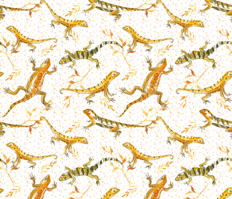 Earth Tone Lizards fabric by countrygarden on Spoonflower - custom fabric