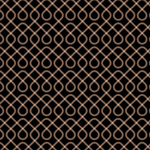 Black & Tan Geometric