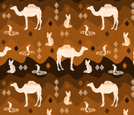 Sahara (Ocre) fabric by vannina on Spoonflower - custom fabric