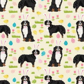 bernese mountain dog easter fabric cute spring pastel dogs design - cream