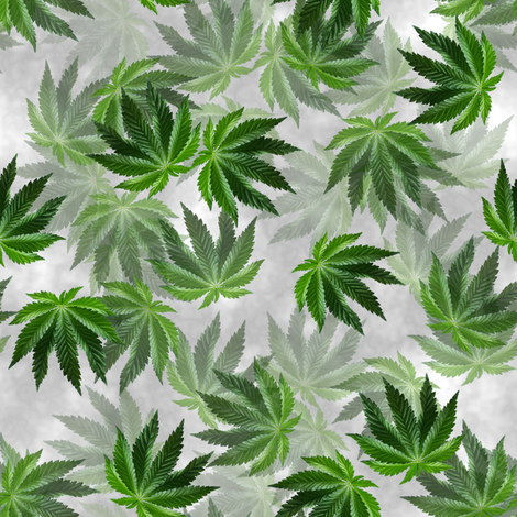 Elegant Indica Leaves Light fabric by camomoto on Spoonflower - custom fabric