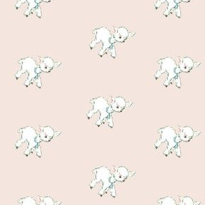 Vintage Baby Lambs Repeat in Buff