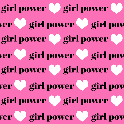 girls fabric girls text word girl power fabric fabric by charlottewinter on Spoonflower - custom fabric