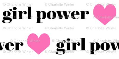 girls fabric girls text word girl power fabric