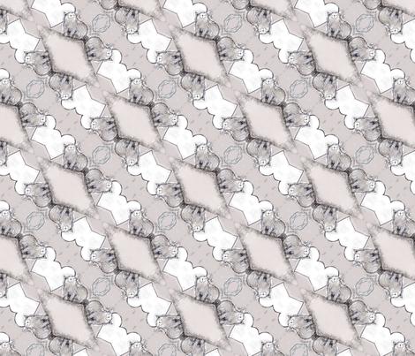 Happy scruffy grey cat. fabric by lisa_cat on Spoonflower - custom fabric
