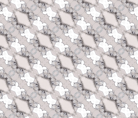 Happy scruffy grey cat. fabric by lisa_cat on Spoonflower - custom fabric