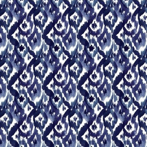 Indigo Blue Ikat Diamonds Small