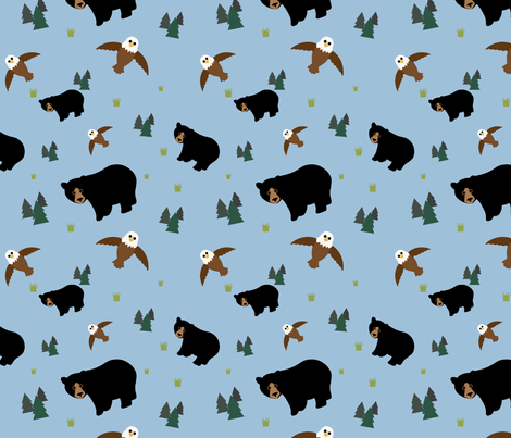 Wilderness fabric by andreamckay on Spoonflower - custom fabric