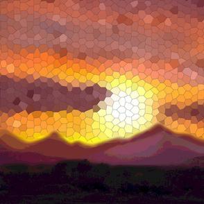 Majestic Mountain Sunset