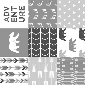Adventure Woodland Wholecloth (90) || grey