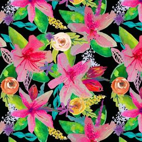 Neon Azeleas Garden // Smaller Print
