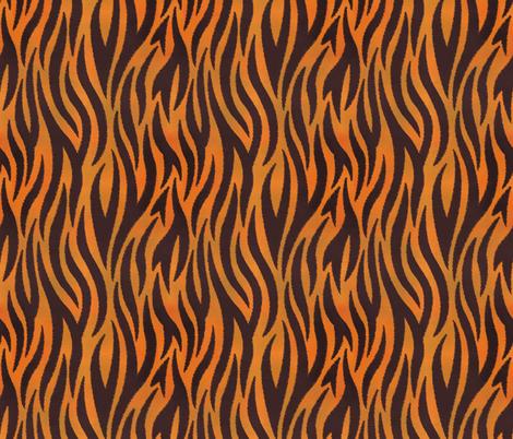 Tiger Stripes - Jagged fabric by samalah on Spoonflower - custom fabric
