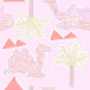 Camel Cabana in Electric Pink Lemonade