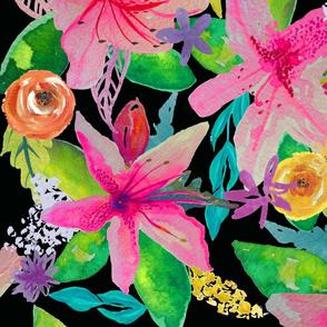 Neon Azelea Garden // LARGE
