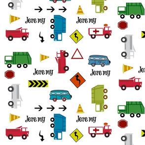 cars & trucks  LARGE multi-PERSONALIZED Jeremy