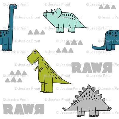 modern dino (small scale) w/ RAWR