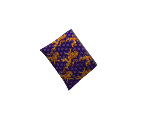 Medieval Gold Lions Fleurs on Purple