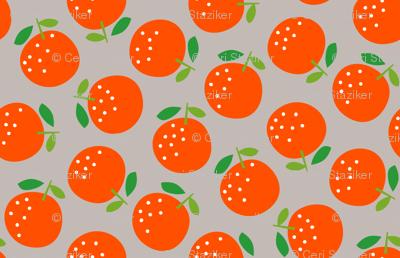 Oranges (on grey)