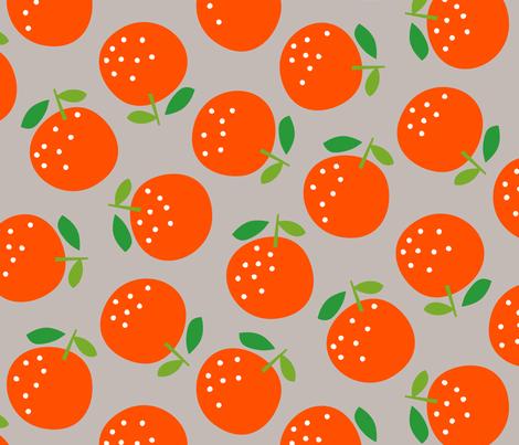 Oranges (on grey) fabric by cerigwen on Spoonflower - custom fabric