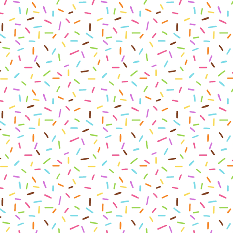 Rainbow Sprinkles on White fabric by hazel_fisher_creations on Spoonflower - custom fabric