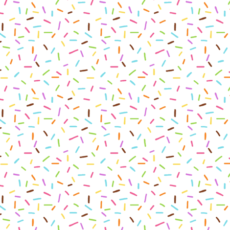Rainbow Sprinkles on White fabric by hazelfishercreations on Spoonflower - custom fabric