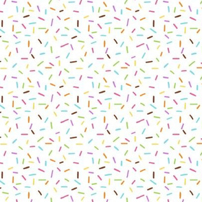 Rainbow Sprinkles on White