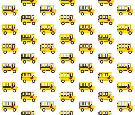 schoolbus 3 - on white fabric by drapestudio on Spoonflower - custom fabric