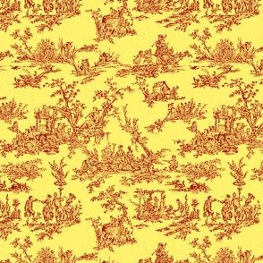 Tiny Toile Yellow