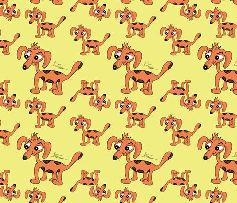Strange Dog fabric by giovanni_potenza on Spoonflower - custom fabric