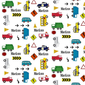 cars & trucks MED  multi-metro PERSONALIZED Markus