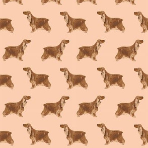 cocker spaniel dog fabric hunting dog pattern design - apricot