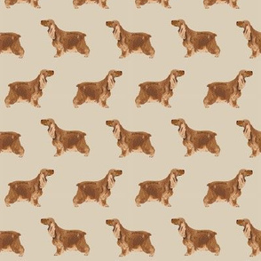 cocker spaniel dog fabric hunting dog pattern design -sand