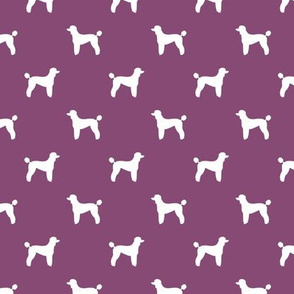 poodle silhouette fabric best dogs quilting fabric dog design - amethyst