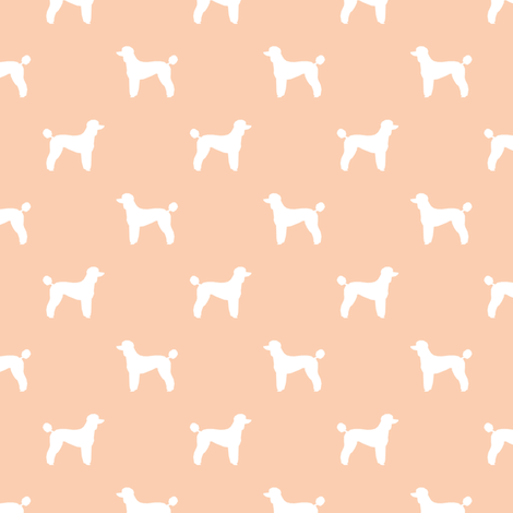 poodle silhouette fabric best dogs quilting fabric dog design - apricot fabric by petfriendly on Spoonflower - custom fabric
