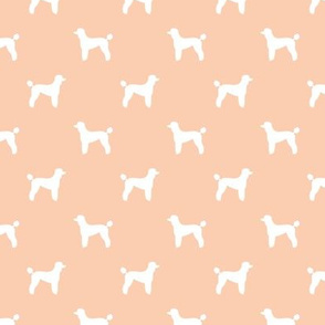 poodle silhouette fabric best dogs quilting fabric dog design - apricot