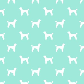 poodle silhouette fabric best dogs quilting fabric dog design - aqua